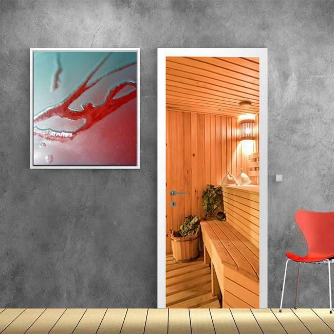 Door sticker Sauna behind the door