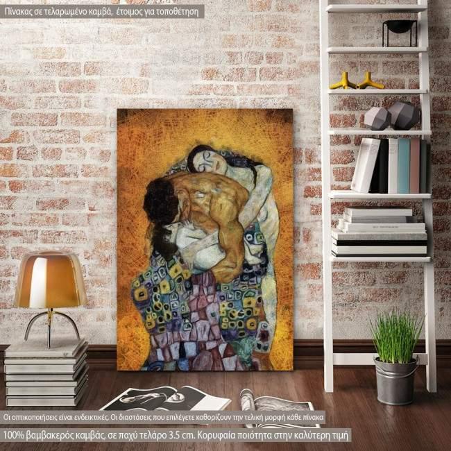 Canvas print The family reart (original Klimt G.)