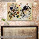 Πίνακας ζωγραφικής Transverse line, Kandinsky W., αντίγραφο σε καμβά