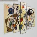 Canvas print Transverse line, Kandinsky W. five panels, side