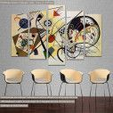 Canvas print Transverse line, Kandinsky W. five panels