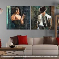 Πίνακας σε καμβά Maybe square, δίπτυχος