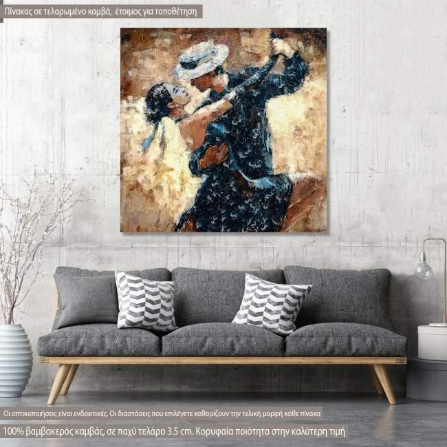 Canvas print Tango dancers