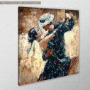 Canvas print Tango dancers, side