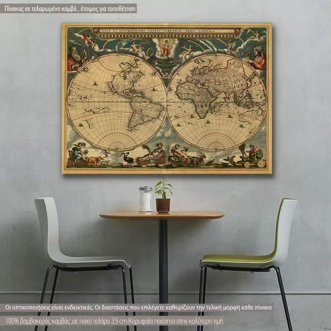 Πίνακας σε καμβά Map of ancient world