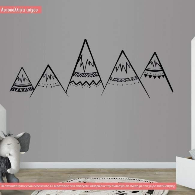 Αυτοκόλλητο τοίχου, Βουνά tribal art1