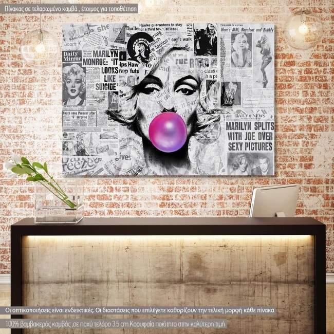 Πίνακας σε καμβά Marylin pop art