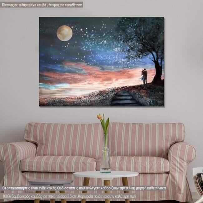 Πίνακας σε καμβά Γαλαξίας, Milky Way Lovers