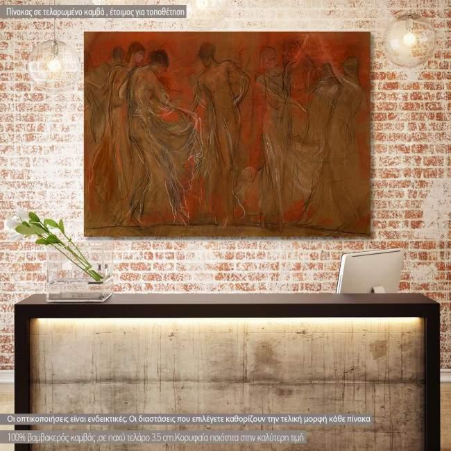 Πίνακας ζωγραφικής Χορός των μουσών, Ν. Γύζης, αντίγραφο σε καμβά