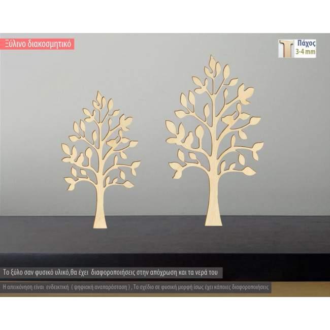 Ξύλινο δέντρο με πουλιά διακοσμητική φιγούρα