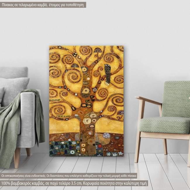 Πίνακας ζωγραφικής Tree of life, close up, Klimt G, αντίγραφο σε καμβά