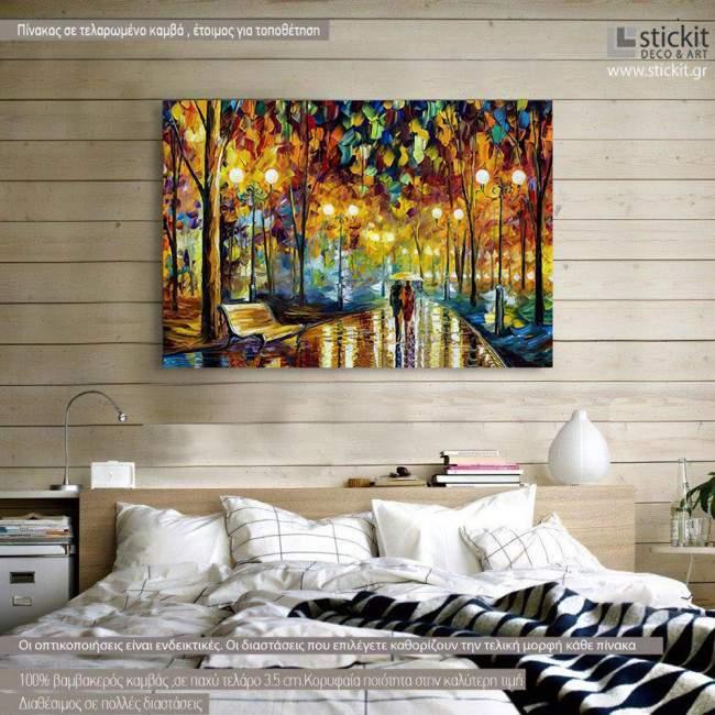 Πίνακας σε καμβά Rain reflections