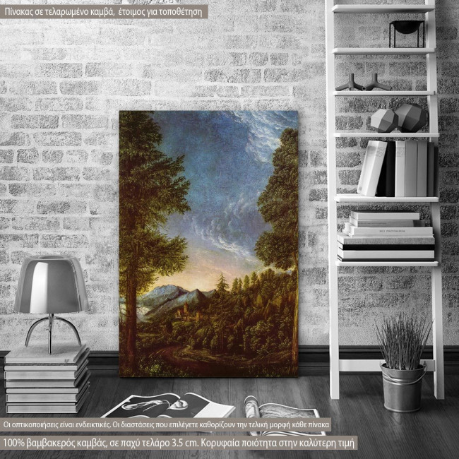Canvas print Danube landscape near Regensburg by A.  Altdorfer