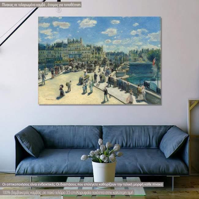 Πίνακας ζωγραφικής Pont Neuf, Paris,  Renoir A., αντίγραφο σε καμβά