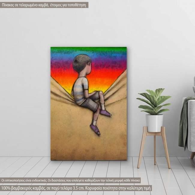 Πίνακας σε καμβά Rainbow view
