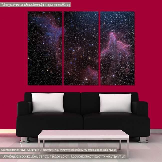 Πίνακας σε καμβά Milky way, τρίπτυχος