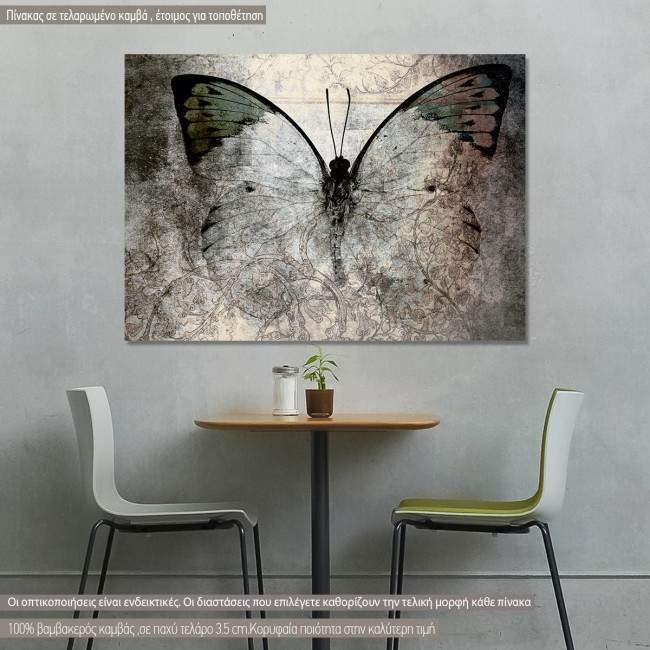 Πίνακας σε καμβά Πεταλούδα, Abstract I