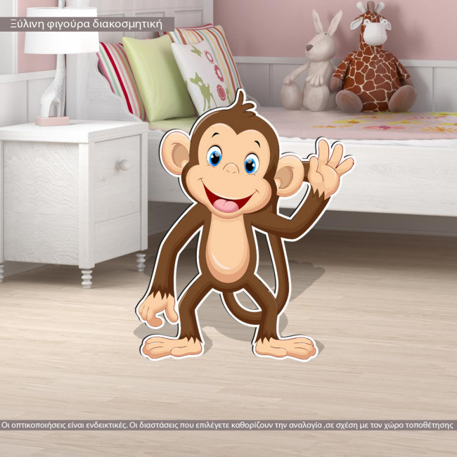 Wooden figure printed Monkey