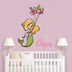 Kids wall stickers Mermaid, design V