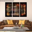 Canvas print Abstract red, yellow, black,  3 panels