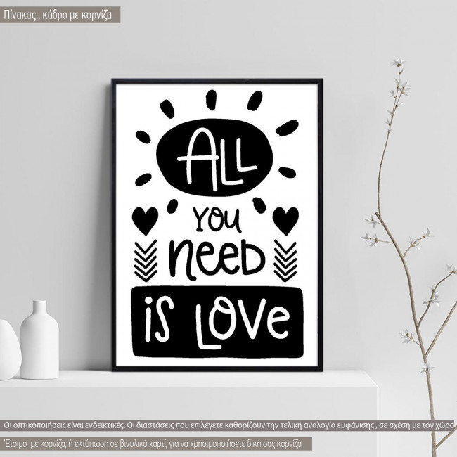 All you need is love κάδρο