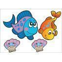 Kids wall stickers with Baby sea animals