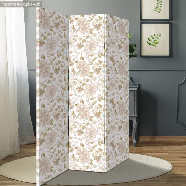 Room divider Light floral pattern