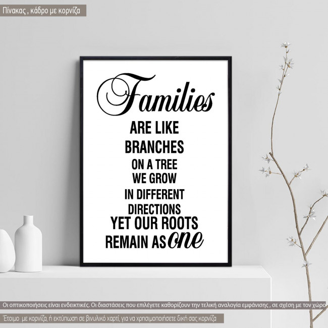 Poster Families are like branches on a tree
