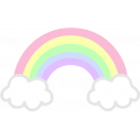 Αυτοκόλλητο τοίχου, Ουράνιο τόξο, pastel χρώματα