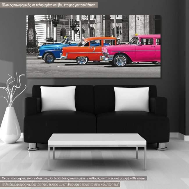 Πίνακας σε καμβά Havana cars