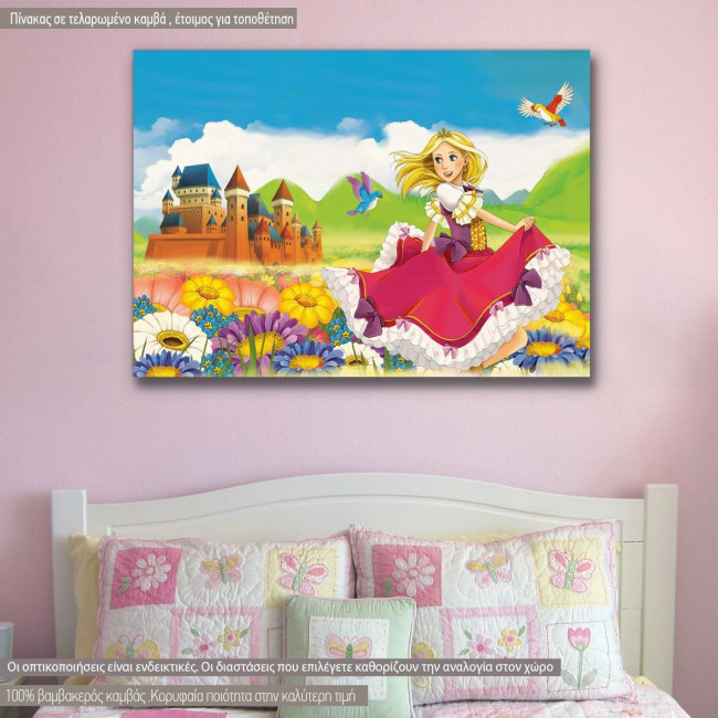 Kids canvas print The princess