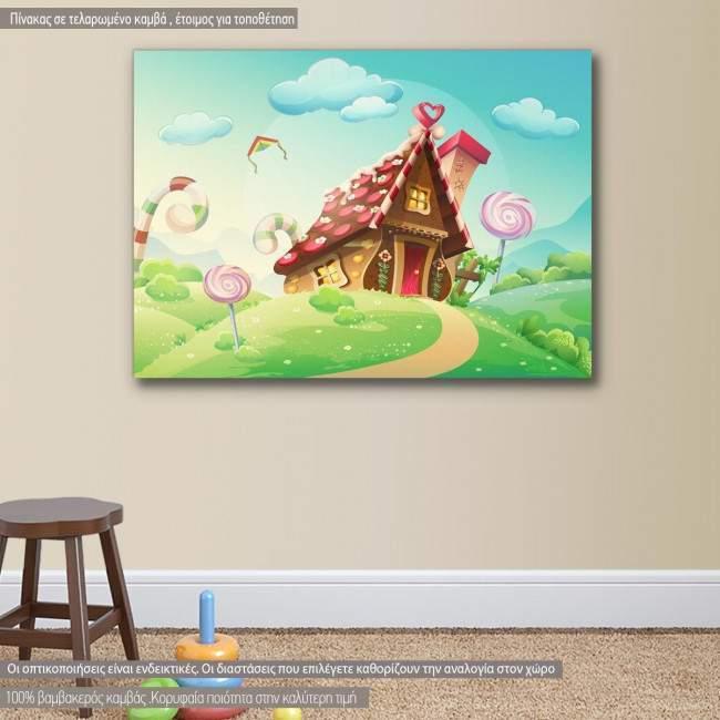Πίνακας παιδικός σε καμβά Sweet house