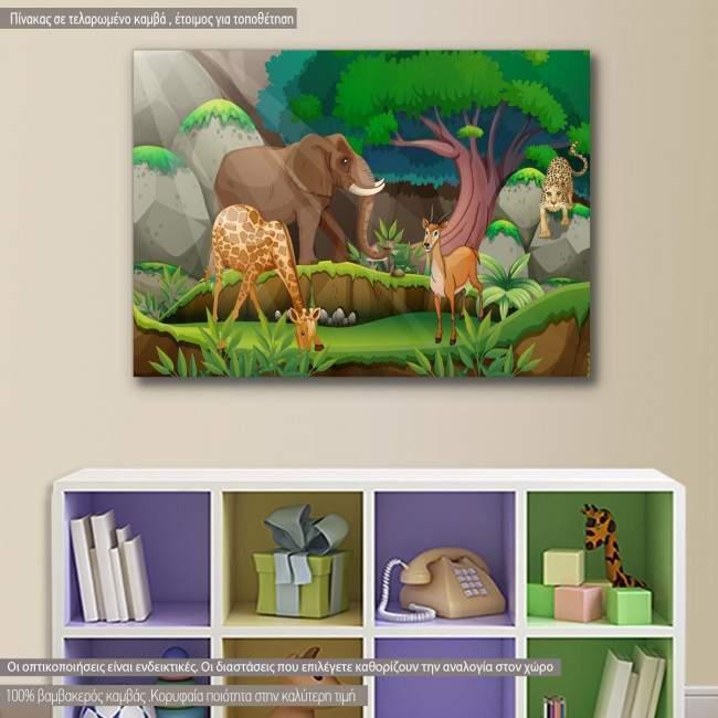 Kids canvas print Jungle