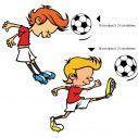 Kids wall stickers Little footballers