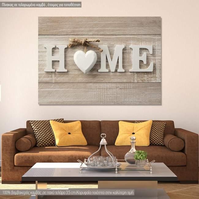 Canvas print HOME