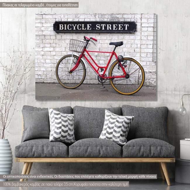 Canvas print Bicycle street