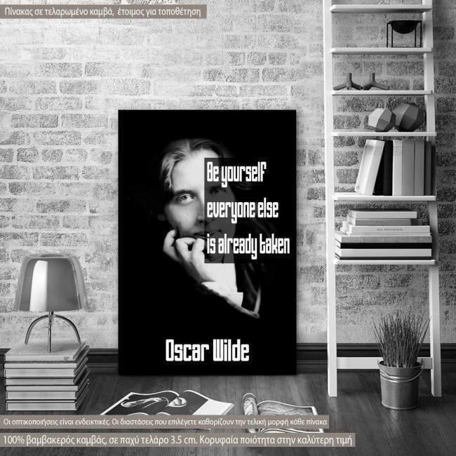 Πίνακας σε καμβά Be yourself..., Oscar Wilde