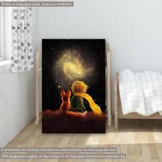 Μικρός πρίγκιπας και το σύμπαν παιδικός - βρεφικός πίνακας σε καμβά