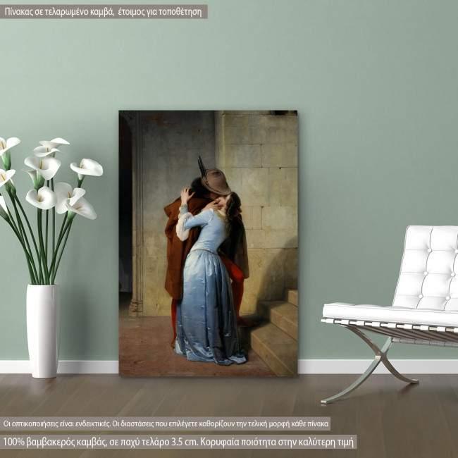 Πίνακας ζωγραφικής The kiss, Hayez F, αντίγραφο σε καμβά