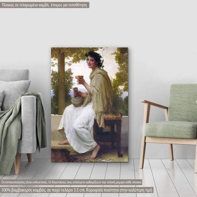 Πίνακας ζωγραφικής Bacchante  (Βάκχη), Bouguereau W. A, αντίγραφο σε καμβά