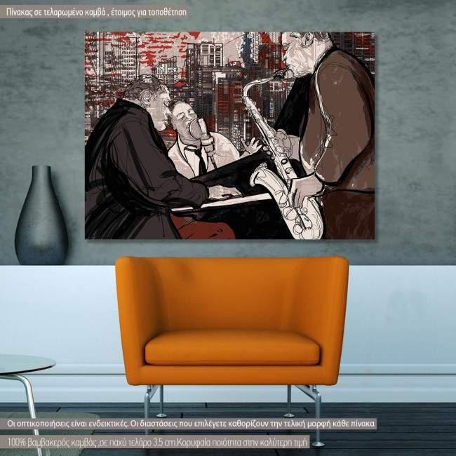 Πίνακας σε καμβά Jazz band
