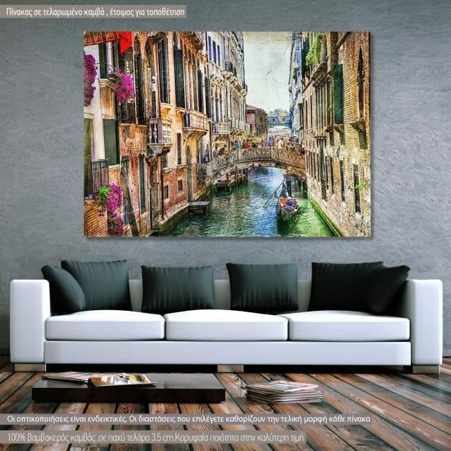 Πίνακας σε καμβά Βενετία, Romantic Venice vintage