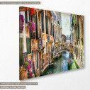 Πίνακας σε καμβά, Βενετία, Romantic Venice vintage, κοντινό