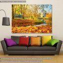 Πίνακας σε καμβά Bench by the brook