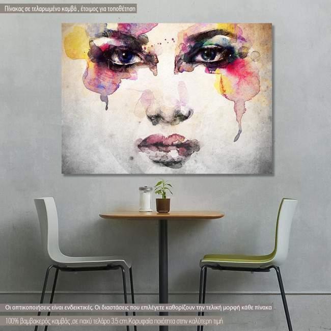 Πίνακας σε καμβά Woman portrait watercolor