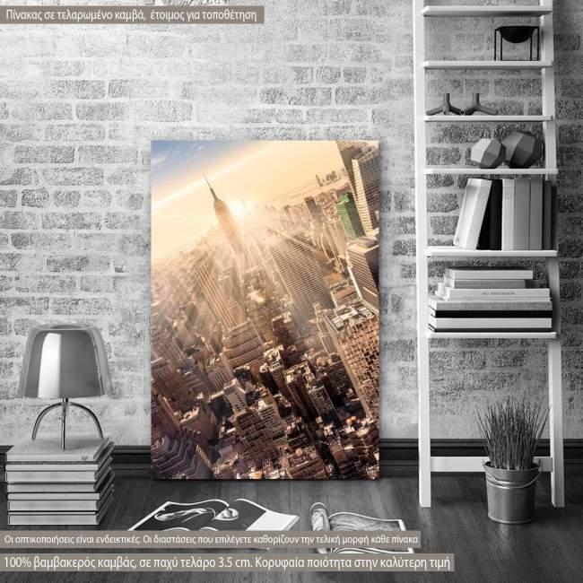 Πίνακας σε καμβά Manhattan downtown skyline