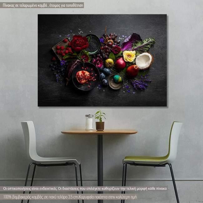 Πίνακας σε καμβά Φρούτα και λαχανικά