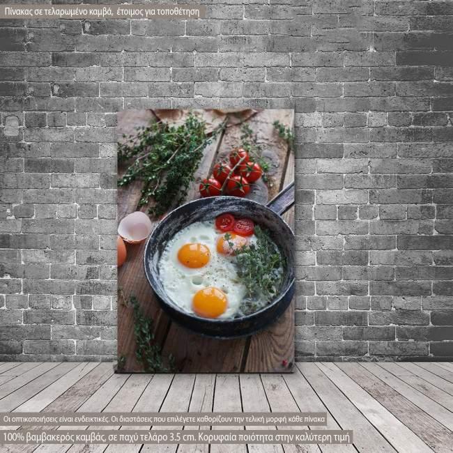 Πίνακας σε καμβά Τηγανιτό πρωινό