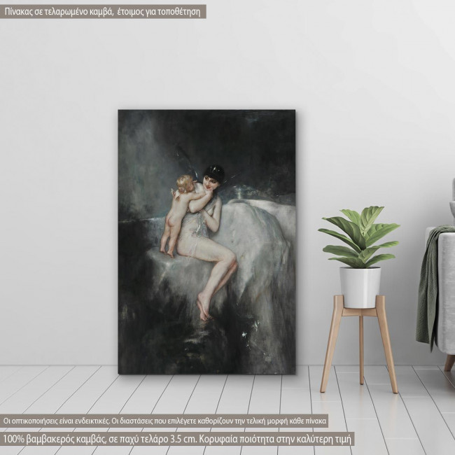 Πίνακας ζωγραφικής Νύμφη και Έρως, Γύζης Ν, αντίγραφο σε καμβά