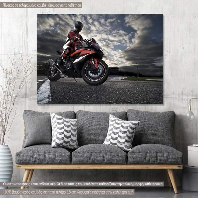 Πίνακας σε καμβά Motor sport